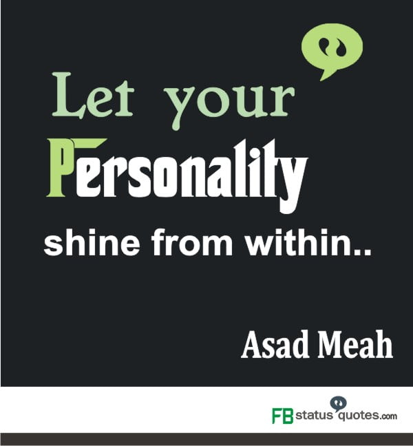 quotes on personality