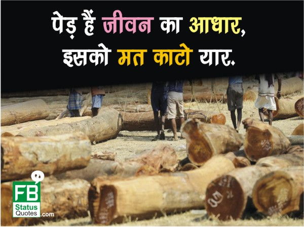 Save Trees Slogans hindi