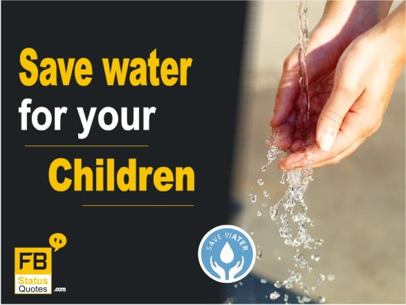 Save Water Slogans images in English