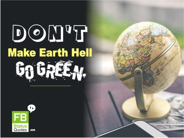 Slogan On Save Earth day