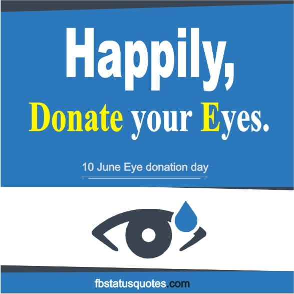 poster on Eye donation with slogan