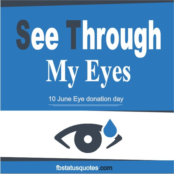 slogan for Eye donation