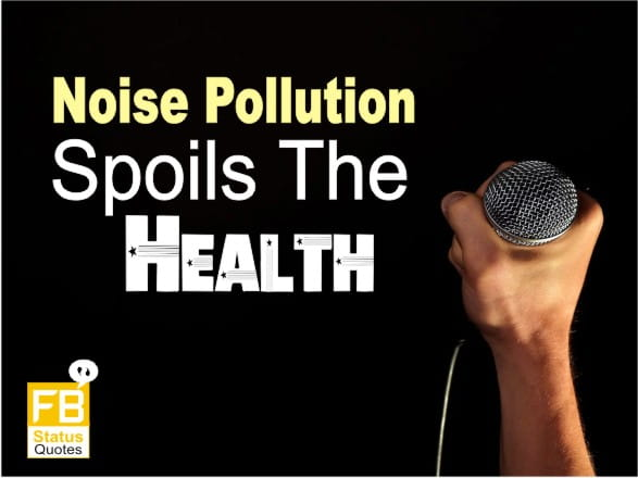slogans on noise pollution