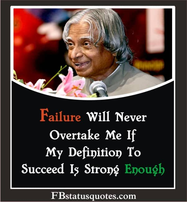 Failure Will Never Overtake Me If My Definition To Succeed Is Strong Enough.