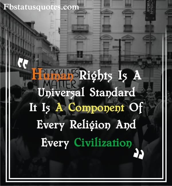 Human Rights Is A Universal Standard