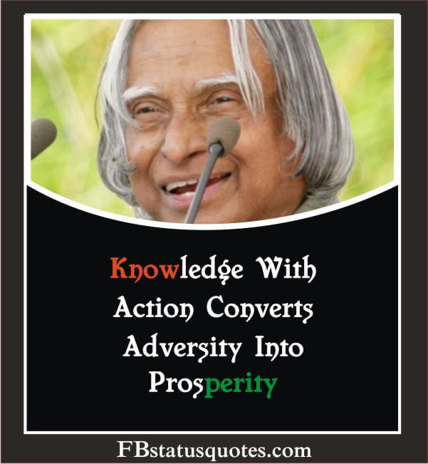Knowledge With Action Converts Adversity Into Prosperity