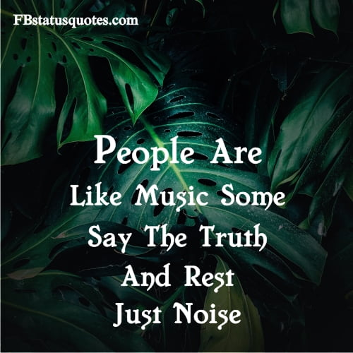 People Are Like Music Some Say The Truth And Rest Just Noise