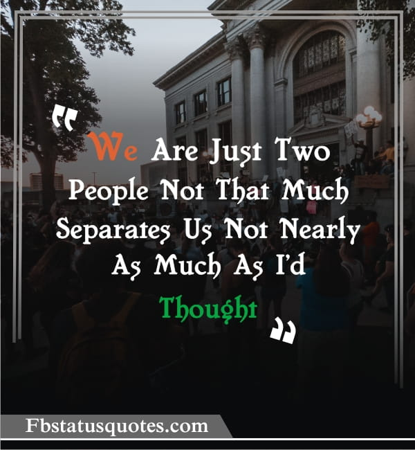 We Are Just Two People