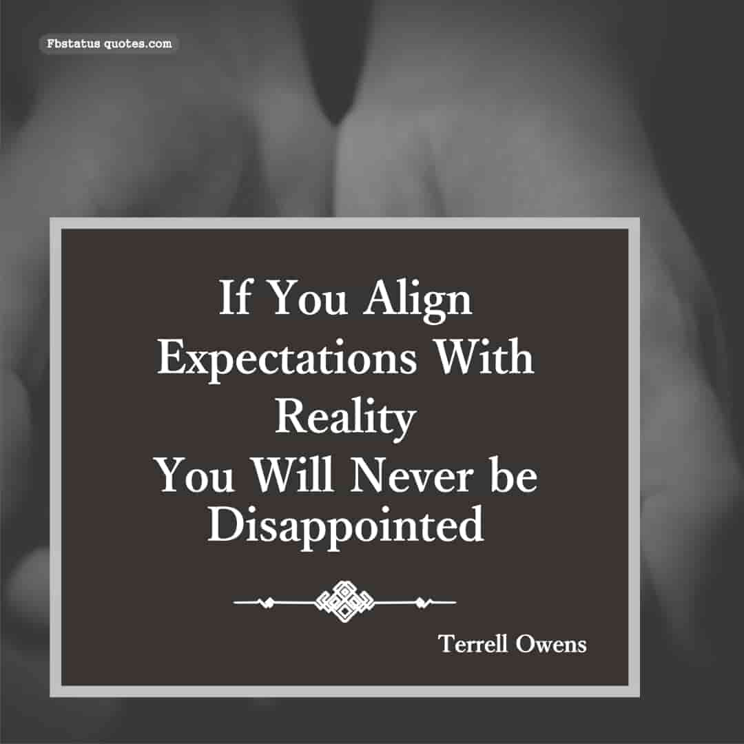 expectations quotes In English