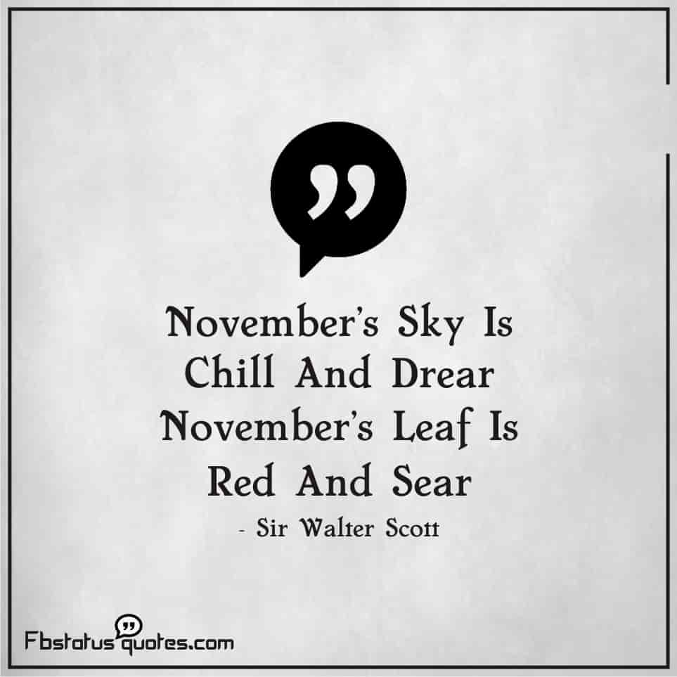 Welcome November quotes