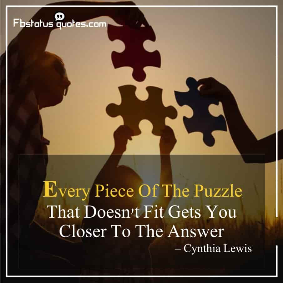 Puzzle Quotes About Life