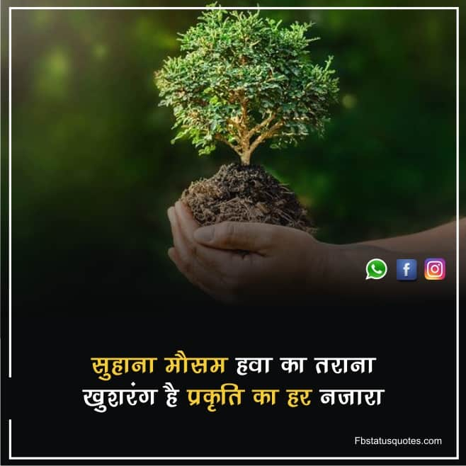 Beautiful Nature Quotes In Hindi