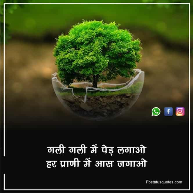 Lines On Environment In Hindi