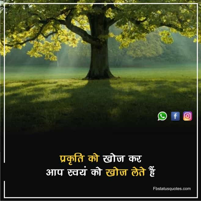 Status About Nature In Hindi